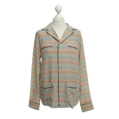Marni for H&M Silk blouse with geometric pattern
