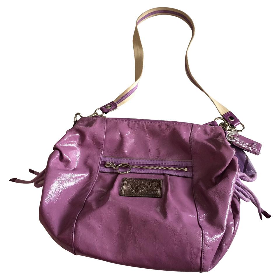 Coach Handtasche aus Lackleder