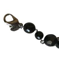 Chanel braccialetto perline in grigio / nero