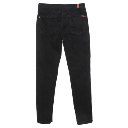 7 For All Mankind Cordhose in Schwarz
