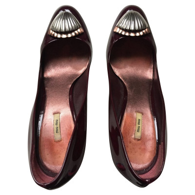 61cdfa92fa0 Miu Miu Pumps Peeptoes Patent leather in Bordeaux
