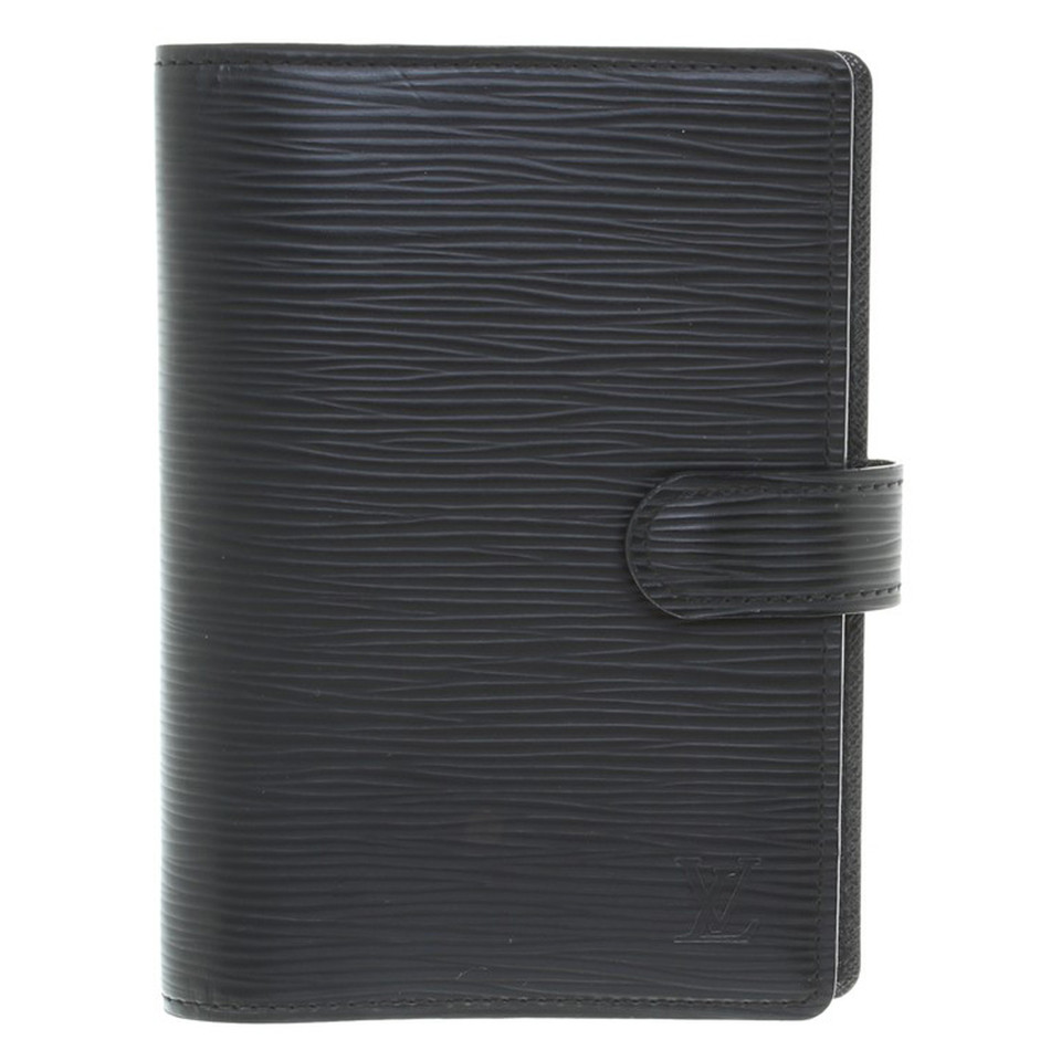 "Louis Vuitton ""Agenda Fonctionnel PM Epi Leather"" in Black"