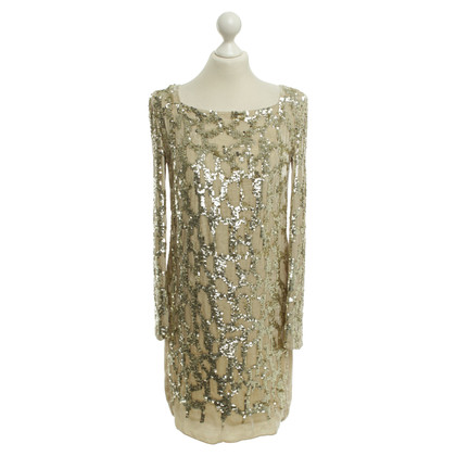 Patrizia Pepe Robe en velours avec garniture de sequins
