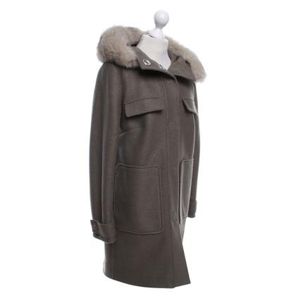 Peuterey Peuterey RED coat with fur