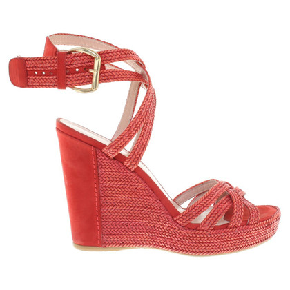 Stuart Weitzman Wedges in Red
