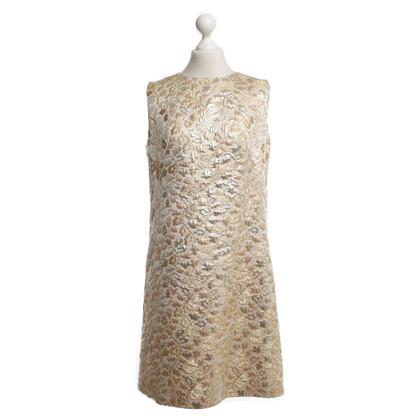 Dolce & Gabbana L'oro colorato abito di broccato con il modello