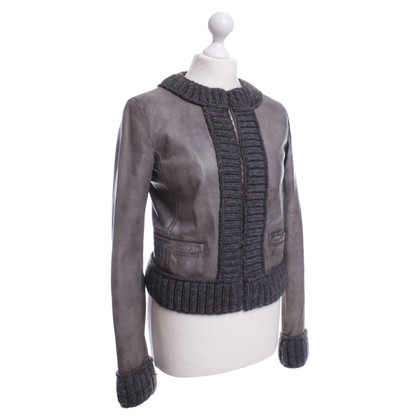 Dolce & Gabbana La giacca in pelle effetto used