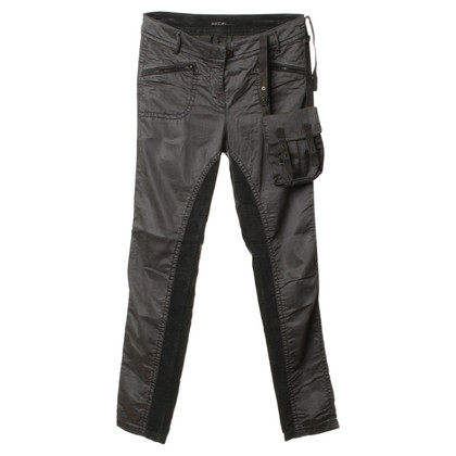 Marc Cain Trousers with velvet insert