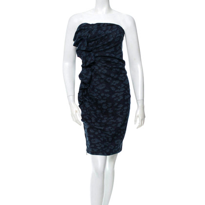 Lanvin Jeans dress with leopard print