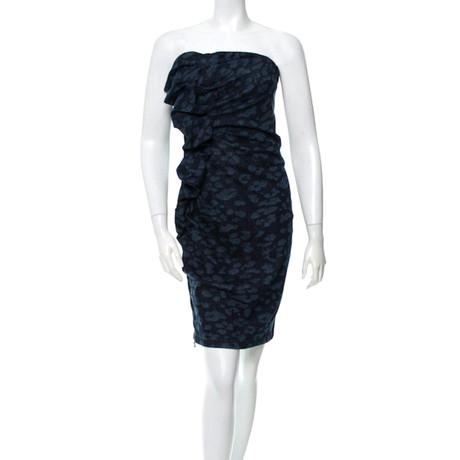 Lanvin Jeanskleid mit Leoparden-Print Blau