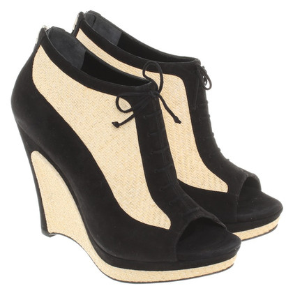 Fendi Wedges in black / beige