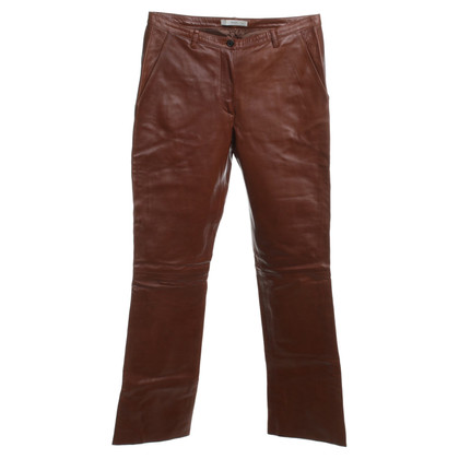 Prada Leather pants in brown