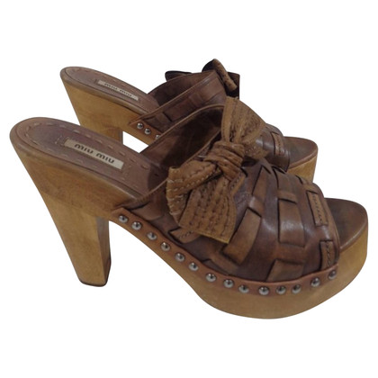 Miu Miu Miu Miu brown high heels sandals