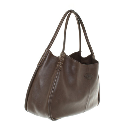 Tod's Leather Hopper in Brown