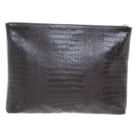 René Lezard clutch with reptile embossing