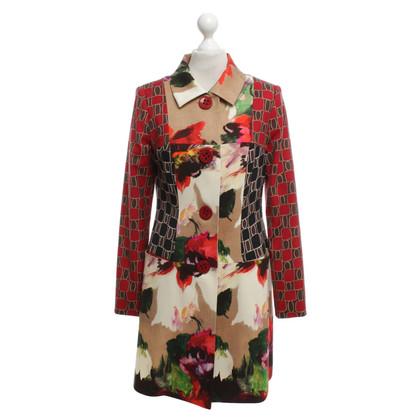 Talbot Runhof Coat in patchwork look