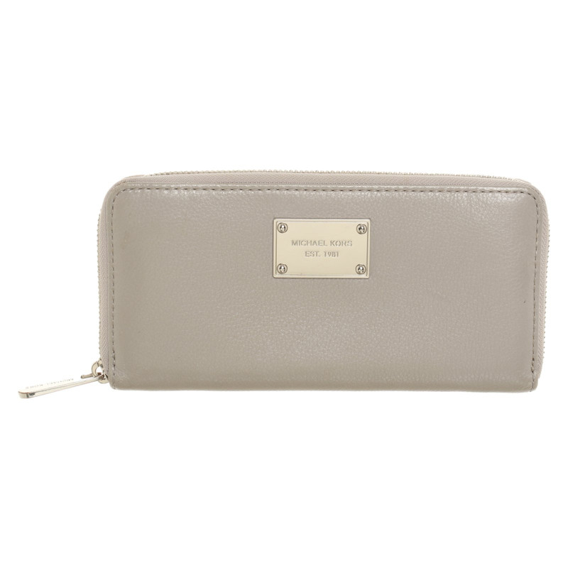 Michael Kors BagPurse Leather in Grey Second Hand Michael