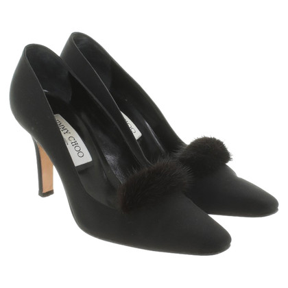 Jimmy Choo pumps with mink trim