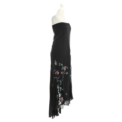 Roberto Cavalli Dress Black Handbestickt Silk Gr. S