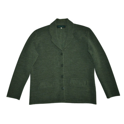 Carven Green Wool Cardigan