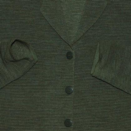Carven Grüne Wollstrickjacke