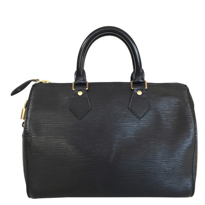 """Louis Vuitton """"Speedy 25 EPI leather"""" in nero"""