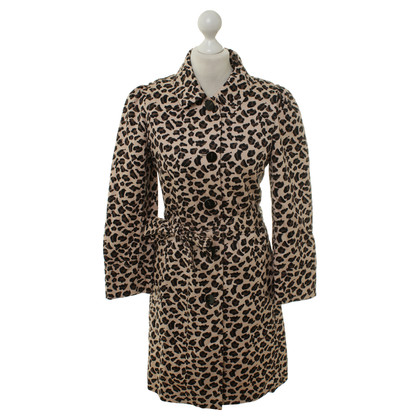 Marc by Marc Jacobs Trenchcoat met animal print