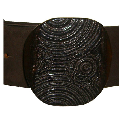 René Lezard Brown leather belt