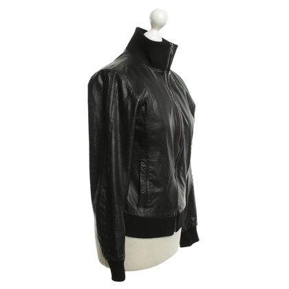 Y-3 Leather jacket in black