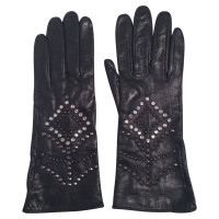 Versace Gloves with studs