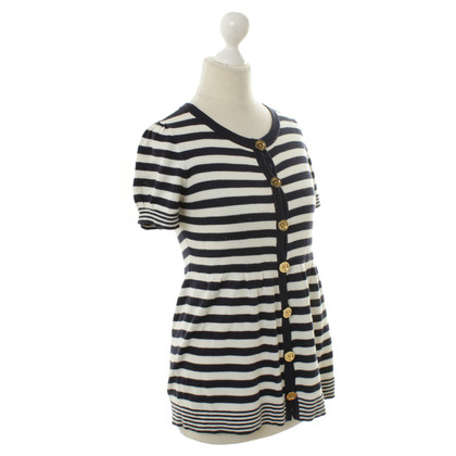 Juicy Couture Fine knit top with stripe pattern