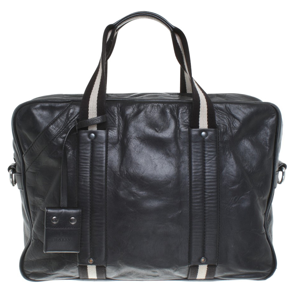 Bally Tassen Online : Bally messenger bag in zwart koop tweedehands