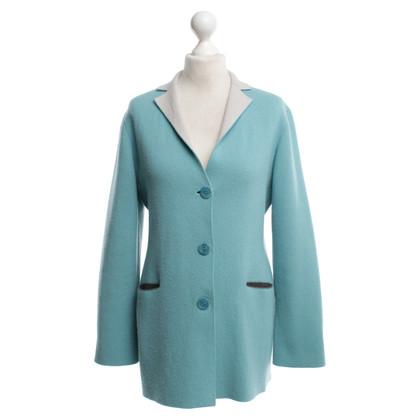 Iris von Arnim Cashmere reversible jacket turquoise