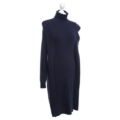 Maison Martin Margiela Wollen jurk in donkerblauw