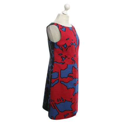 Moschino Cheap and Chic Gemustertes Kleid in Blau/Rot