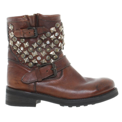 Bash Dark brown ankle boots leather