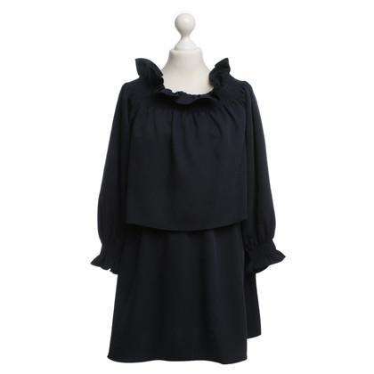 Diane von Furstenberg Kleid mit Schulterpartie in Blau