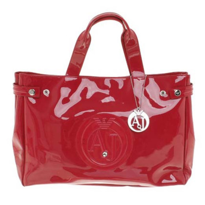 Armani Shopper in Rot