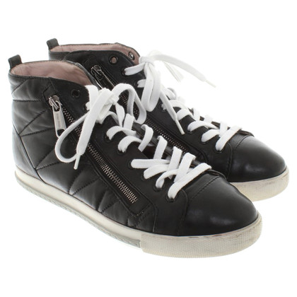 Miu Miu Sneakers alte in nero