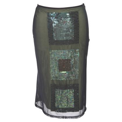 Karen Millen Sequins skirt in green