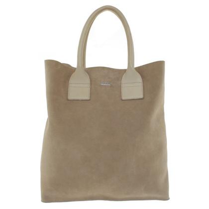 Hugo Boss Wild leather shopper in beige