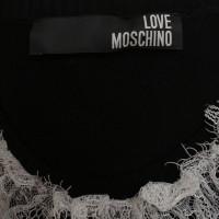 Moschino Love Strickkleid mit Spitzenkragen