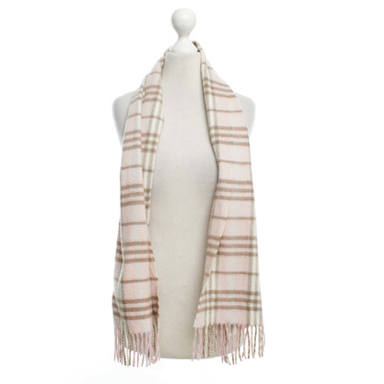 Burberry Check shawl from cashmere in pink