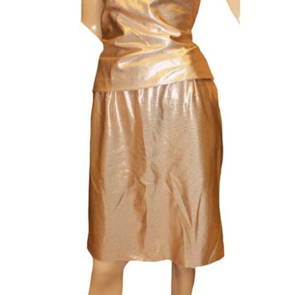 Versace Glitzer Rock in Gold