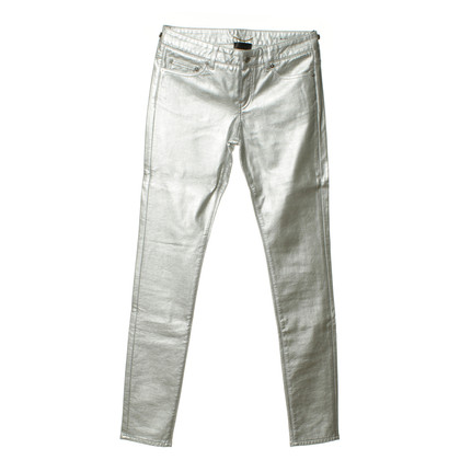 Saint Laurent Silver Skinny pants