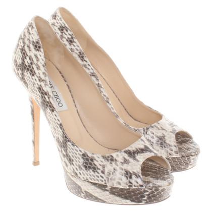 Jimmy Choo Snake leather peep-toes