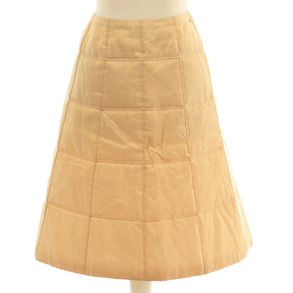 Chanel Gold-coloured quilted skirt
