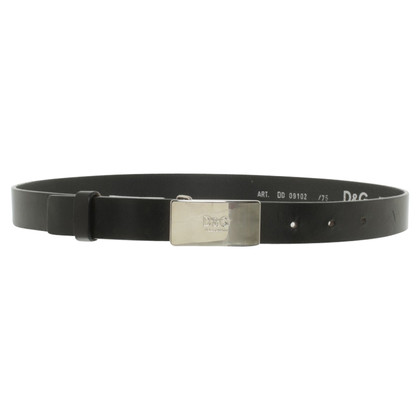 Dolce & Gabbana Leather Belt zwart