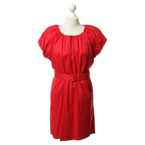 c91617313b Hugo Boss Red dress with Tailliengürtel - Second Hand Hugo Boss Red ...