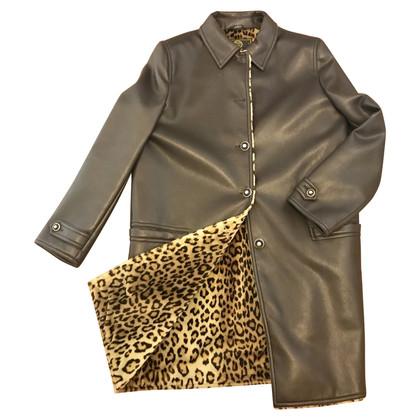 Gianni Versace giacca di pelle imitazione